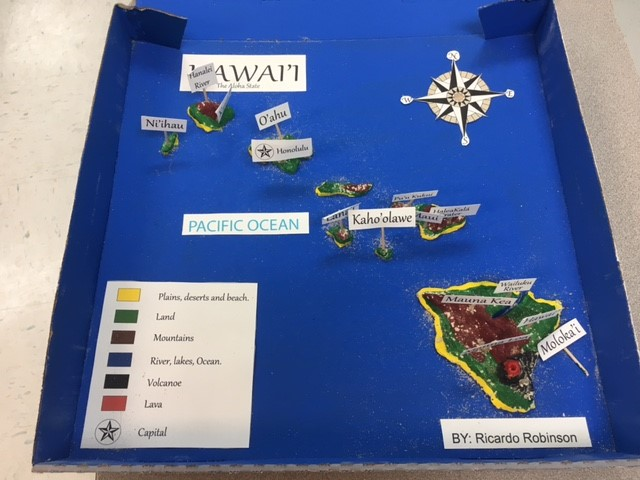 Hawaii Salt Dough Map